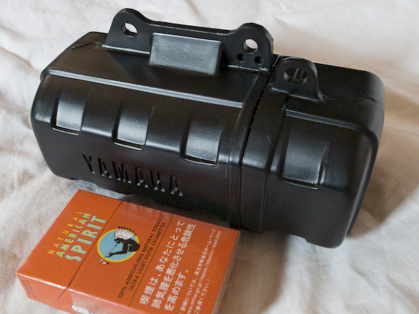 セロー225WEのツールボックス